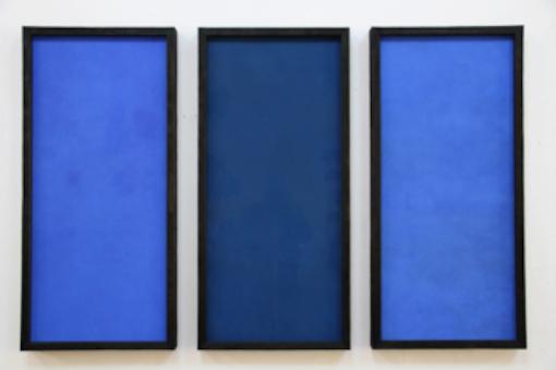 , 'Three Blues,' 2014, Annely Juda Fine Art