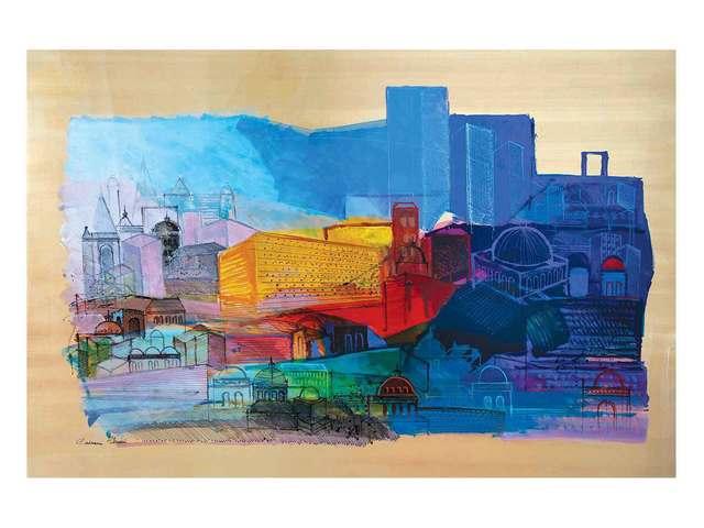 , 'Jerusalem Landscape,' 2015, Eden Fine Art