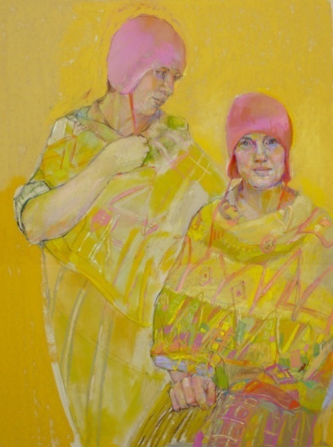 , 'Pink Hats and Geometric Shawls,' 2017, Peninsula Gallery