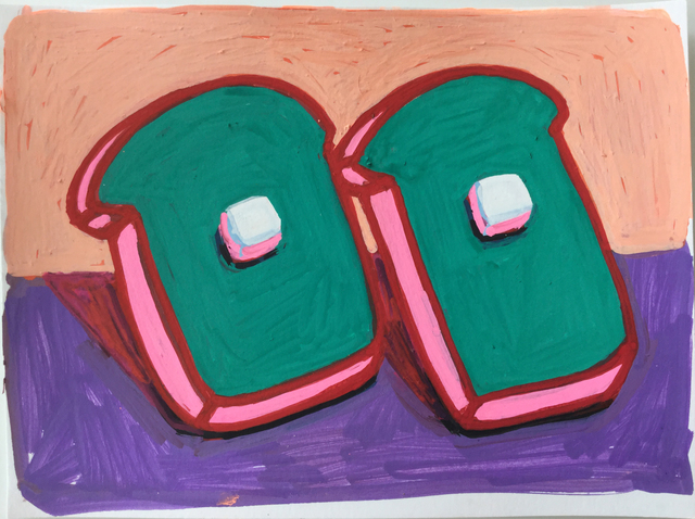 Tori Tinsley, 'Bread & Butter Green with White Butter', 2017, HATHAWAY | Contemporary Gallery