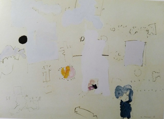 Manuel Hernández Mompó, 'Sale al sol', 1968, Drawing, Collage or other Work on Paper, Mixed technique on paper, Fernández-Braso