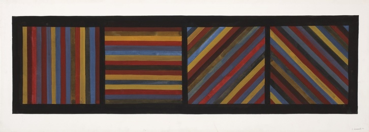 Untitled (Bands of Color in Four Directions)