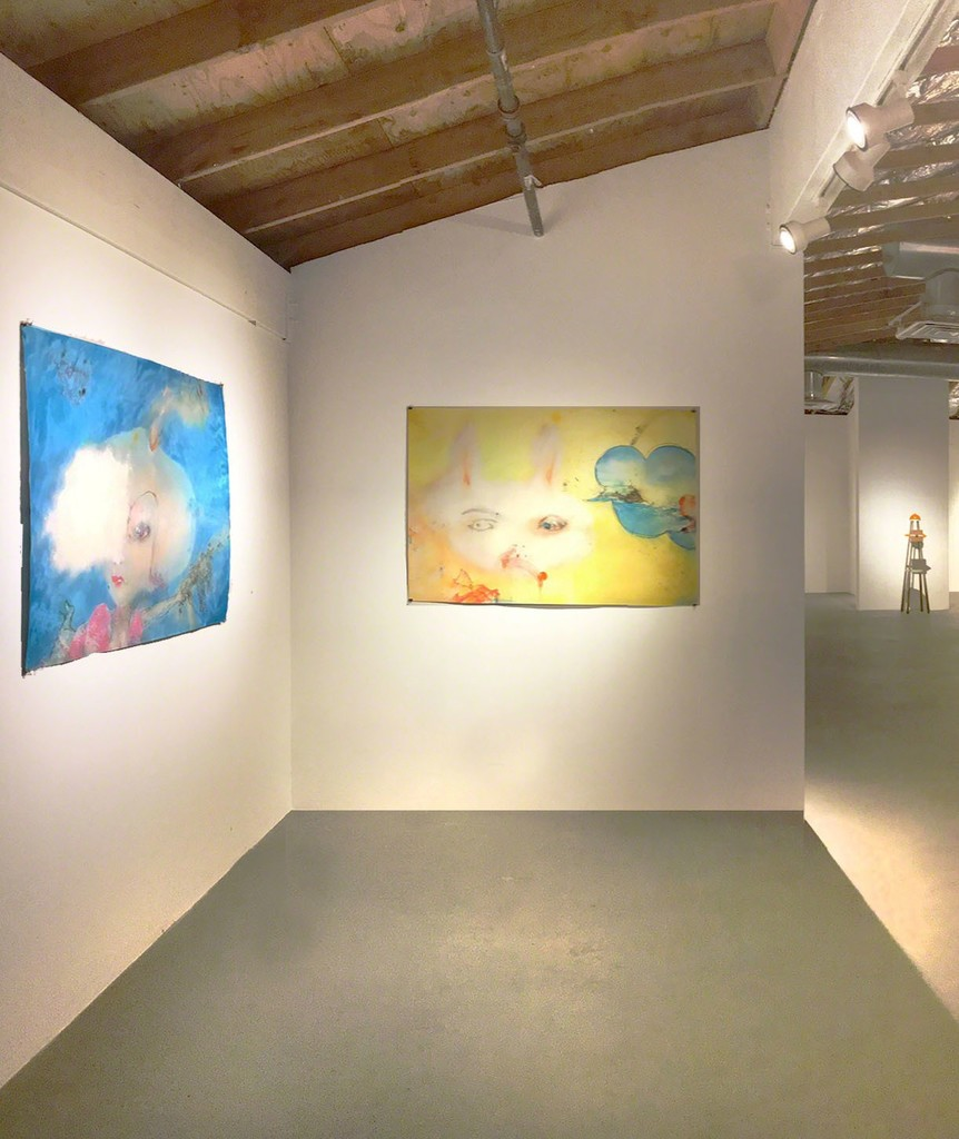 Pictured exhibition works by Sally French (left to right):