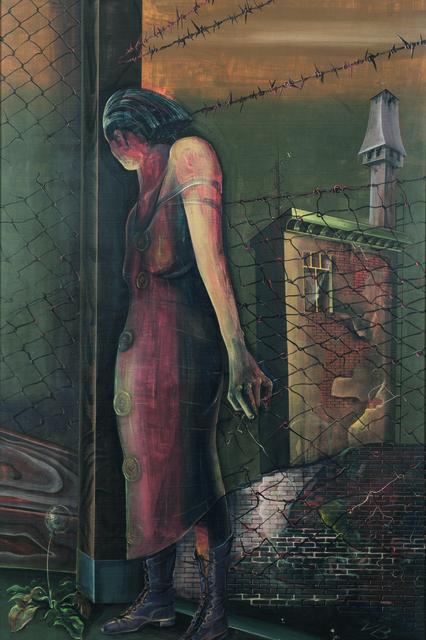 , 'Frau am Zaun,' 1937, Galerie Valentien