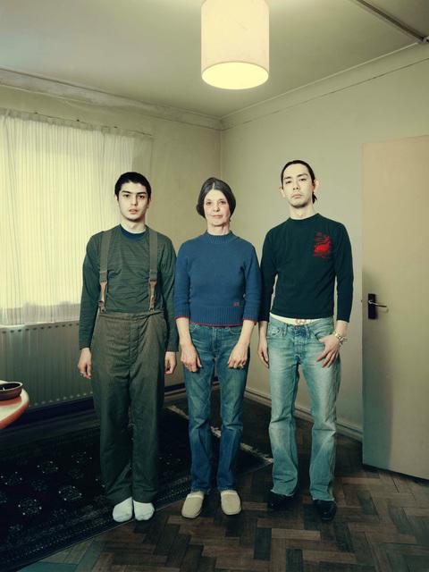 David Stewart, 'Thomas family standing on parquet floor', 2009, Photography, Chromogenic Print, Wren London