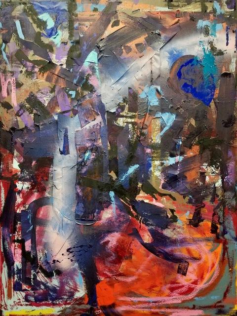 Daniel Martin Sullivan, 'Elegy', 2019, Painting, Oil, Pigment Stick, Spray Paint and Tape on Canvas, The Art House