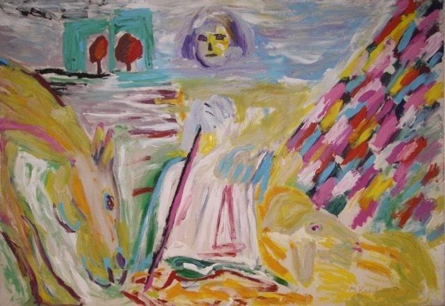 Menashe Kadishman, 'Shepard with Horse', ca. 1995, Corridor Contemporary