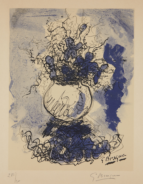 Georges Braque, 'Bouquet. Fleurs à l'aquarelle', 1957, Phillips