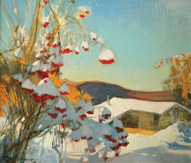 , 'Guelder Rose in December,' 2016, Paul Scott Gallery & galleryrussia.com