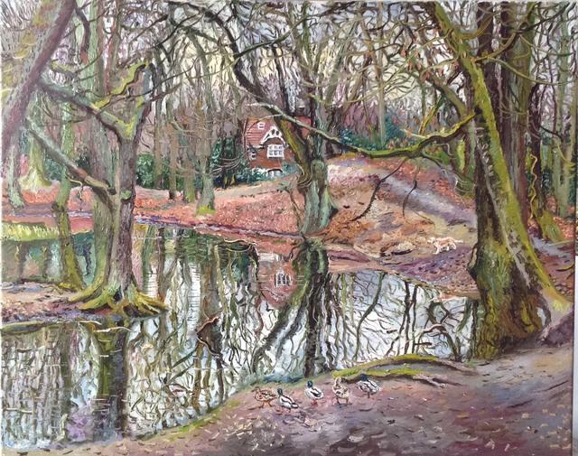 , 'Sandy Heath pond, Hampstead,' 2018, Robert Eagle Fine Art