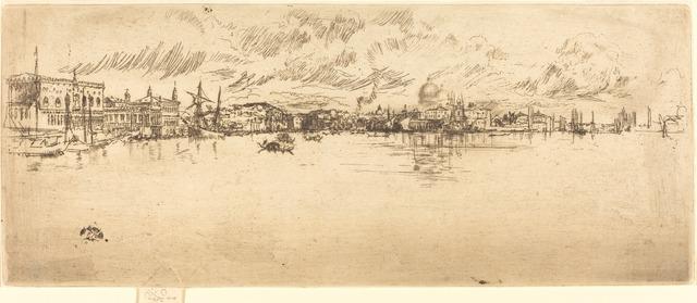 James Abbott McNeill Whistler, 'Long Venice', 1879/1880, National Gallery of Art, Washington, D.C.