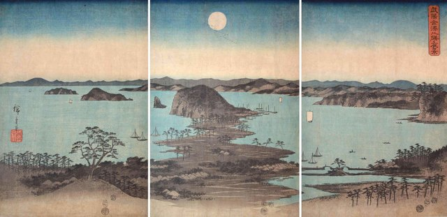 , 'The Eight Views of Kanazawa Bay in Moonlight,' 1857, Ronin Gallery