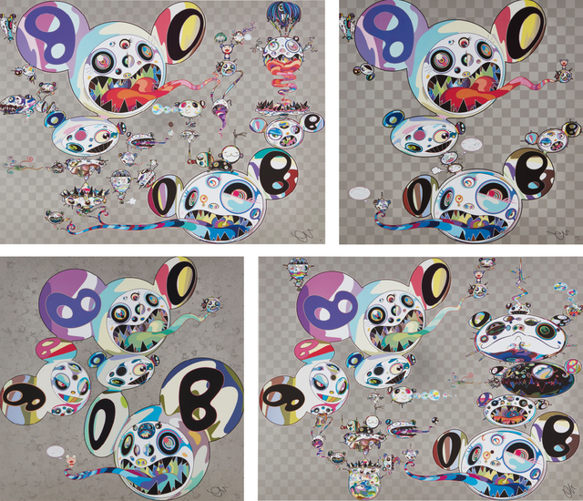 Takashi Murakami, 'Parallel Universe; Spiral; Hands Clasped; and Another Dimension Brushing Against Your Hand', 2014 and 2015, Phillips