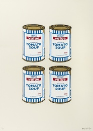 Banksy, 'Soup Cans Quad (Cream Paper),' 2006, Forum Auctions: Editions and Works on Paper (March 2017)