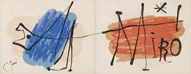Joan Miró, 'Carte D'Invitation Galerie Maeght (M. 108)', 1957, Doyle