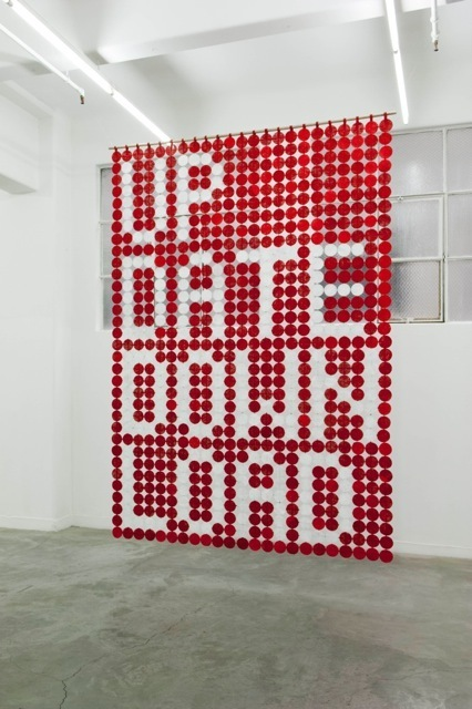 , 'Big Words - UP DATE/DOWN LOAD (circle work),' 2014, Anna Schwartz Gallery
