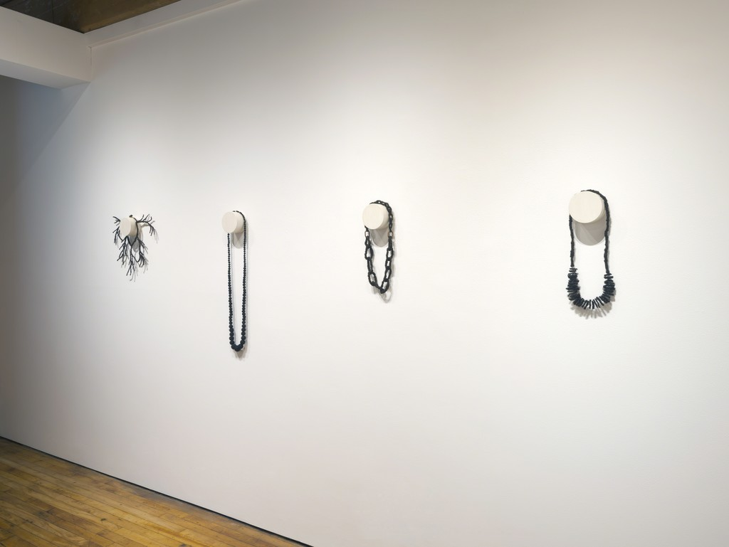 Artwork by Sonya Clark (From left to right)