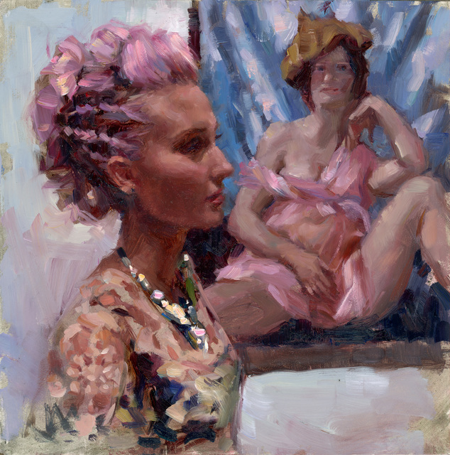 , 'Lilac Code (Self portrait currin),' 2018, Abend Gallery