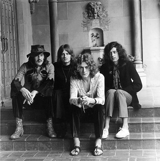 Jay Thompson, 'Led Zeppelin Group Portrait at the Chateau Marmont Hotel in Hollywood, Ca 1969', 1969, Photography, Archival Print, White Cross