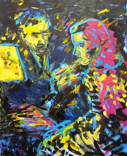 Friedemann Hahn, 'Rauch und Zuneigung', Unknown, Painting, Oil on canvas, Flowers