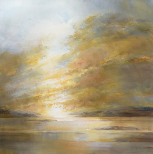 , 'Gold Sky, Llyn of Lorne,' 2017, Thackeray Gallery