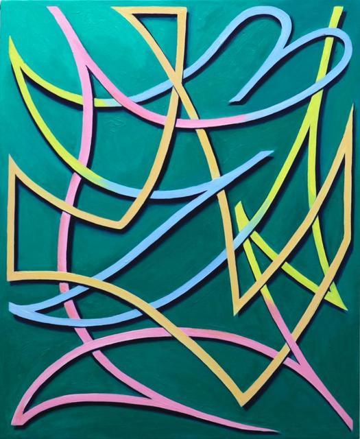 , 'four color line,' 2013, KAYOKOYUKI