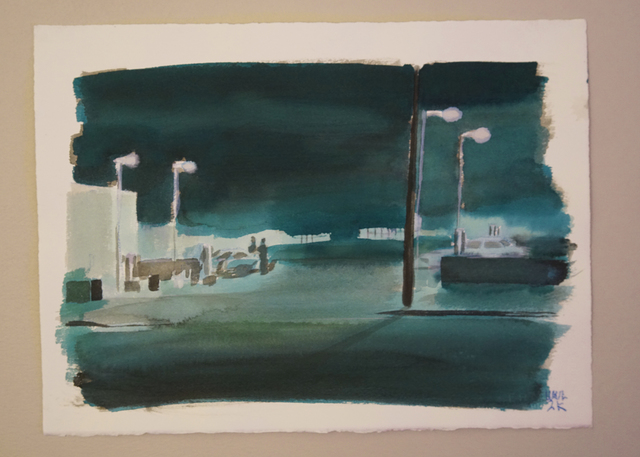William Leavitt, 'Car Wash', 2000, Drawing, Collage or other Work on Paper, Acrylic on paper, galerie frank elbaz