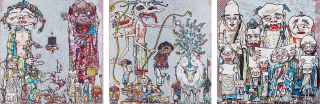 Takashi Murakami, '12 Arhats; Behold! Tis the Netherworld; and Assignation of a Spirit!', 2010; 2013 and 2014, Phillips