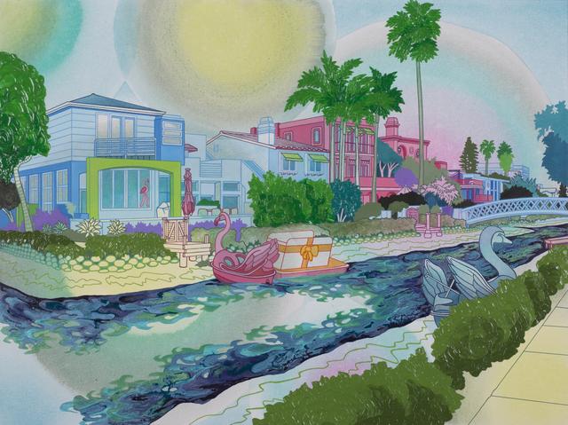 , 'Swan & Flamingo,' none, George Billis Gallery