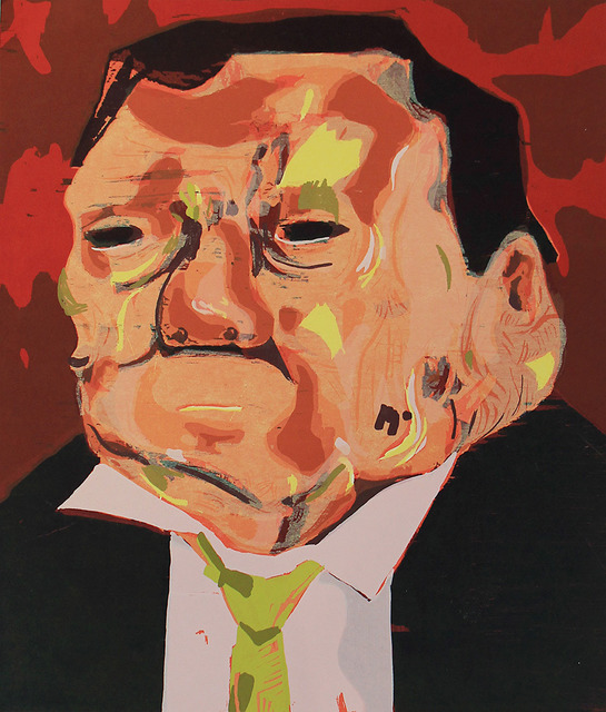 Dana Schutz, 'Poisoned Man', 2006, Print, Color woodblock print, ClampArt