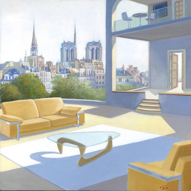 VIANNEY, 'Printemps de Notre Dame', 2019, 3 cerises sur une étagère