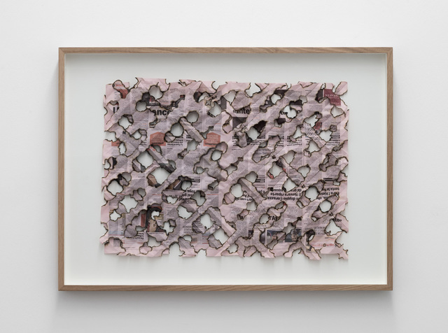 , 'Untitled (La Gazzetta dello Sport),' 2015, Galleria Massimo Minini