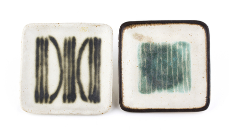 Pair of small ashtrays