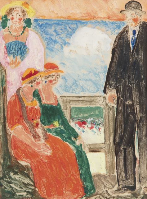 , 'Figures on a Balcony,' 1908, Andrea S. Keogh Art and Design