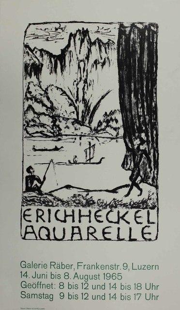 Erich Heckel, 'Untitled (Exhibition poster)', 1965, Sylvan Cole Gallery