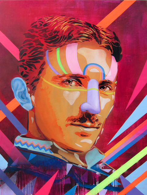 , 'Power is the Energy (Portrait of Nikola Tesla),' 2013, Manfredi Style