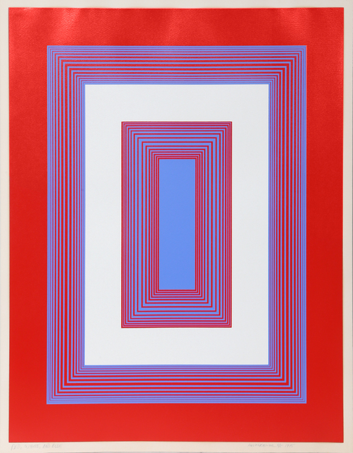 Richard Anuszkiewicz, 'Red, White, and Blue', 1975, RoGallery