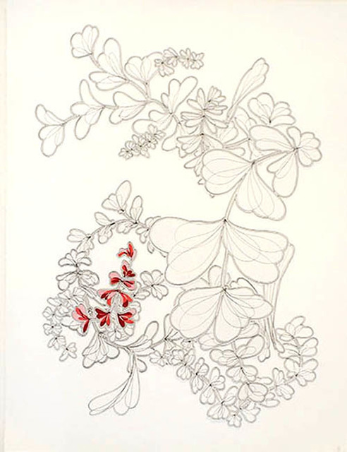 , 'Ink Blooms (Red Dance),' 2013, Paraphé