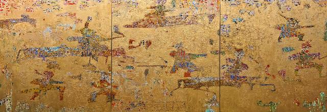 Reza Derakshani, 'Gold Hunt', 2019, Mixed Media, Oil & Gold Paste on Canvas, Leila Heller Gallery