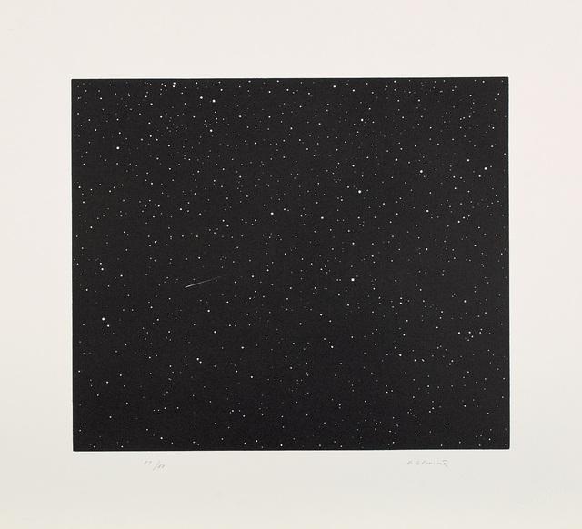 Vija Celmins, 'Comet, from Skowhegan suite', 1992, Print, Linocut, on Fabriano Tiepolo paper, with full margins., Phillips