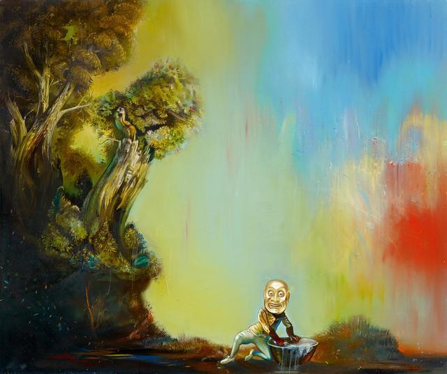 Steve Viezens, 'Die Kunst des Lächelns', 2014, Painting, Oil and egg tempera on canvas, Van Ham