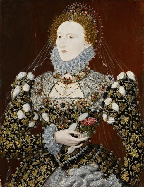 """, 'Elizabeth I of England, the """"Phoenix"""" portrait,' ca. 1575, Musée du Luxembourg"""