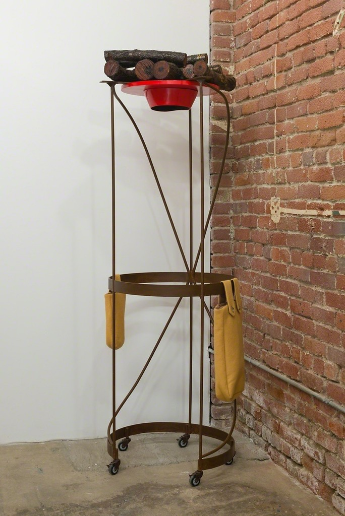 Phyllis Green, 'RED HAT', 2015. Metal, wood, fiberglass resin, cloth, 75 x 24 x 23 inches. Photo: Ruben Diaz.
