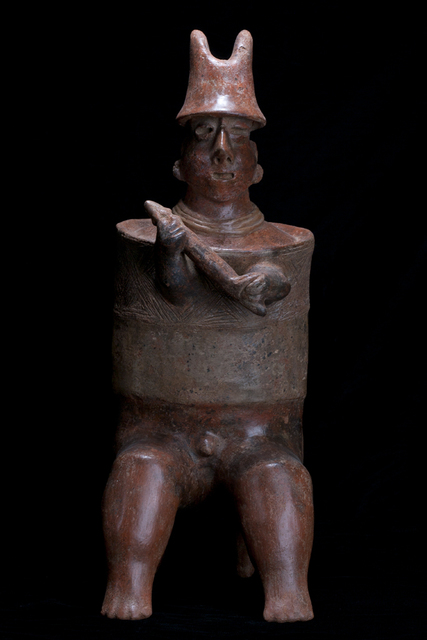 Unknown Pre-Columbian, 'Nayarit Seated Warrior with Barrel Armor', 100 BCE-250, Muzeion Gallery