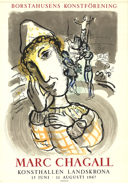 Marc Chagall, 'Circus with Yellow Clown', 1967, Print, Color Lithograph, ArtWise