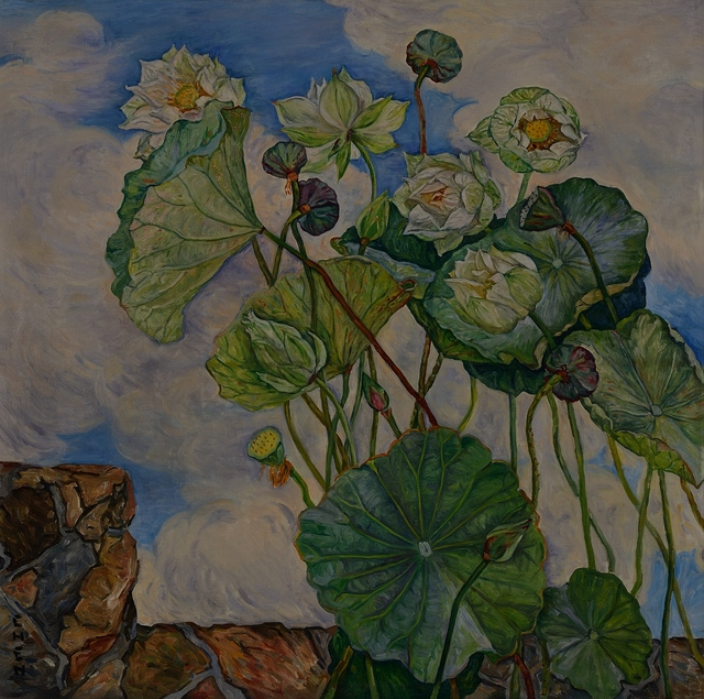 , 'Lotus in a Breeze,' ca. 1970, National Gallery Singapore