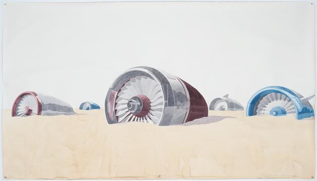 , 'Motores enterrados en la playa,' 2015, Sean Kelly Gallery