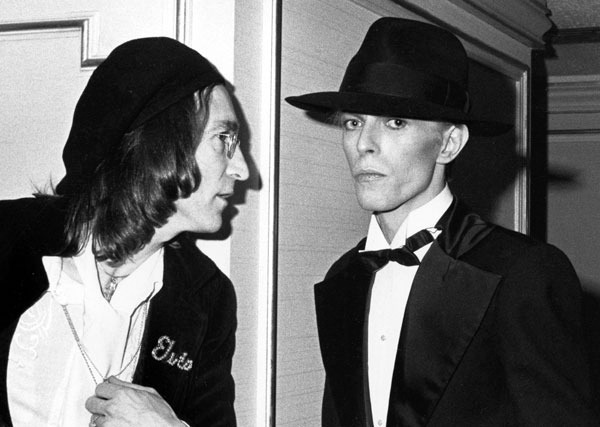, 'John Lennon and David Bowie at the Grammy Awards, New York,' 1975, Staley-Wise Gallery