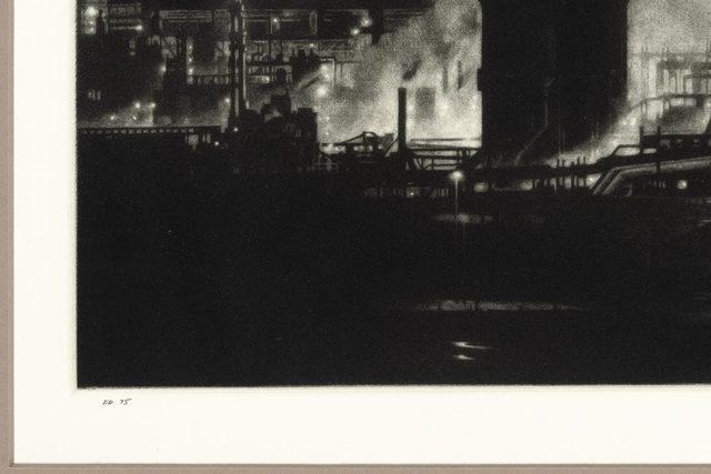 Craig McPherson, 'Clairton', 1997, Print, Mezzotint on pale green paper, Doyle
