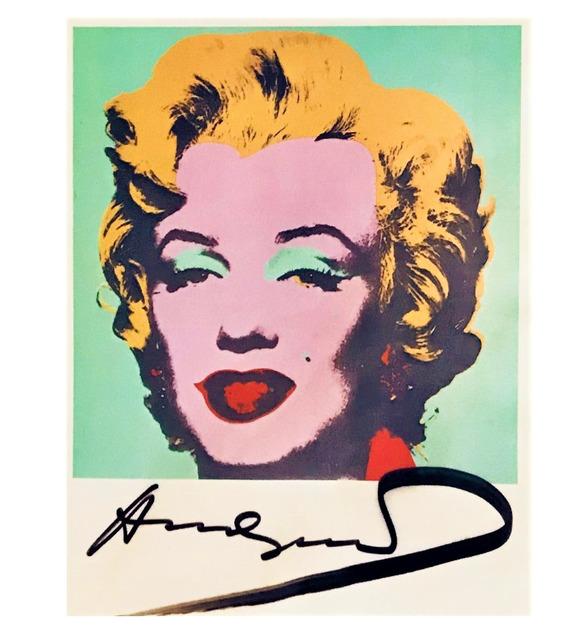 Andy Warhol, ''Marilyn', Signed, MoMA Postcard ', 1980-1987, VINCE fine arts/ephemera